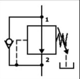válvulas reductoras de presión simbología